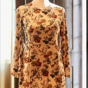 Zara Velvet Mini Long Sleeve Dress Small size